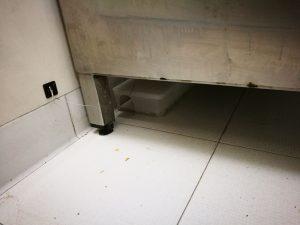 pitbox fissato sotto piano lavoro